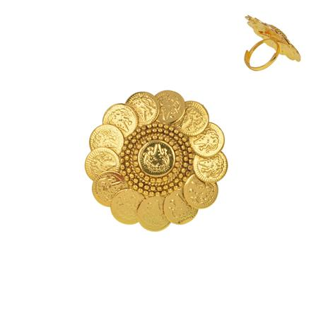 13456 Antique Temple Ring with gold plating
