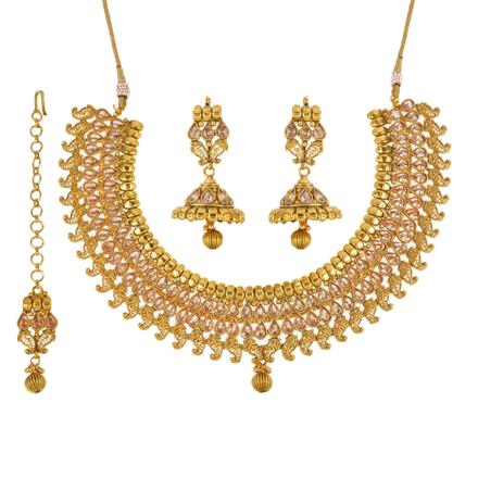 13475 Antique Classic Necklace with gold plating