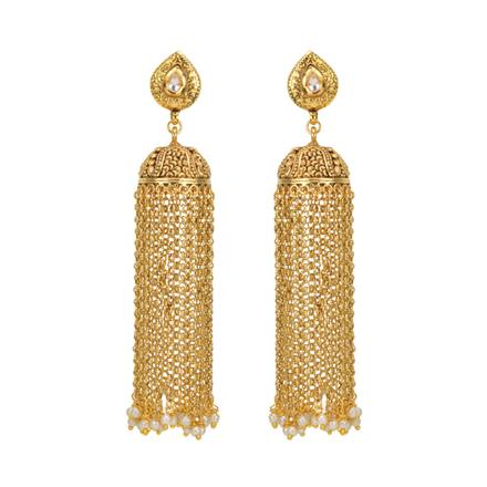 13481 Antique Long Earring with gold plating