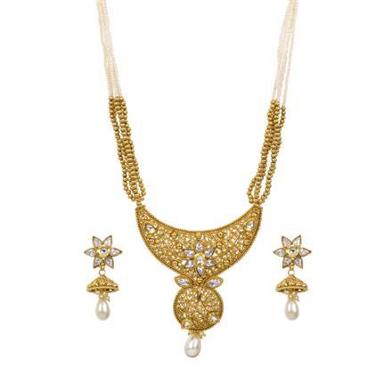 13485 Antique Mala Pendant Set with gold plating