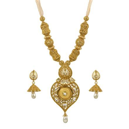 13486 Antique Mala Pendant Set with gold plating