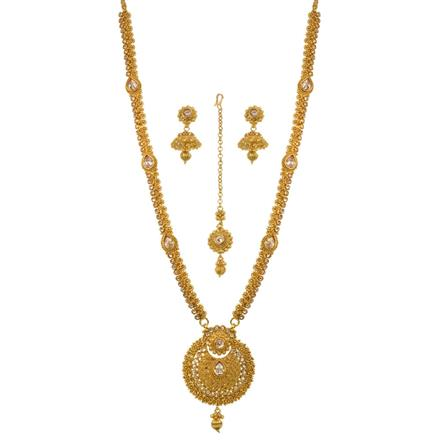 13514 Antique Long Necklace with gold plating