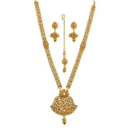 13515 Antique Long Necklace with gold plating