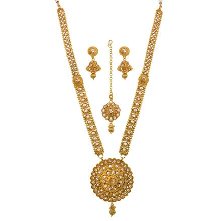13517 Antique Long Necklace with gold plating