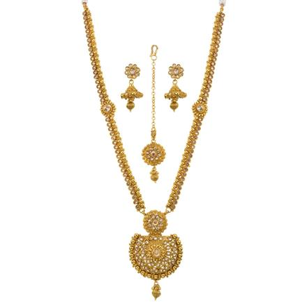 13518 Antique Long Necklace with gold plating
