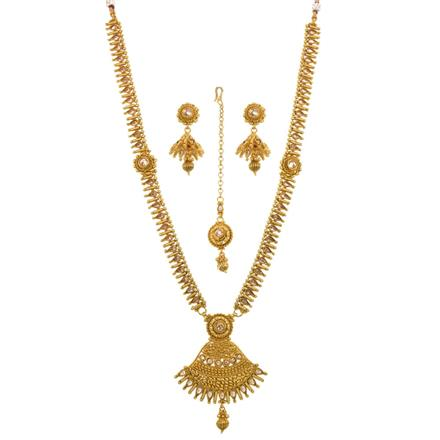 13519 Antique Long Necklace with gold plating