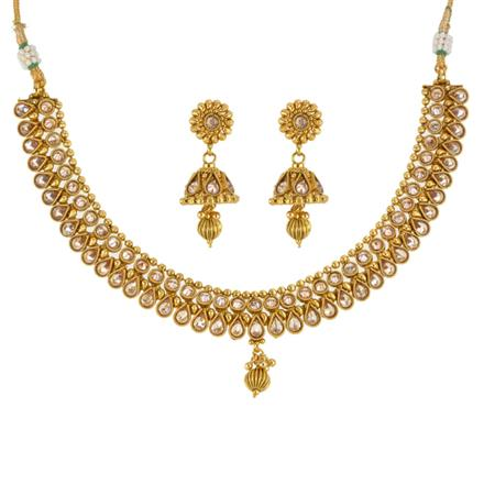 13520 Antique Classic Necklace with gold plating