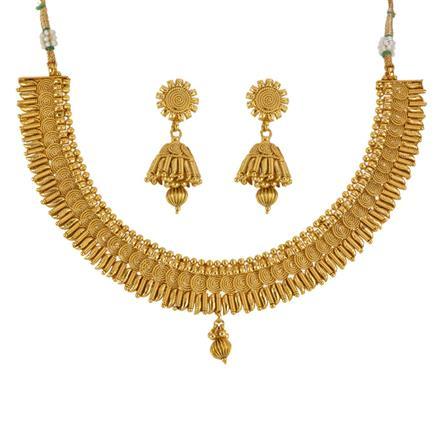 13521 Antique Plain Gold Necklace