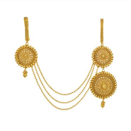 13522 Antique Double Jhuda with gold plating