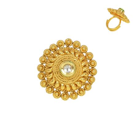 13523 Antique Classic Ring with gold plating