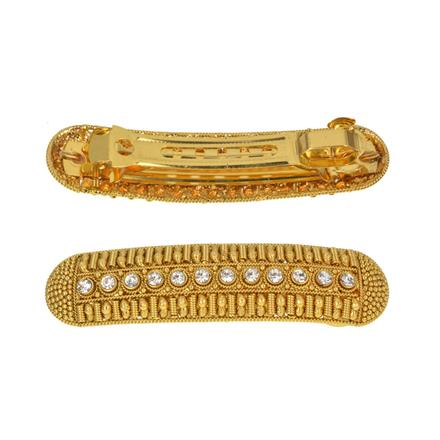 13528 Antique Classic Hair Clip with gold plating
