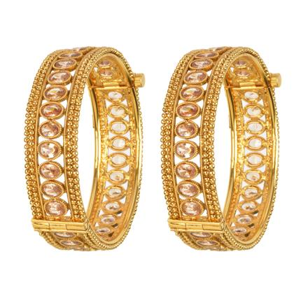 13532 Antique Openable Bangles with gold plating