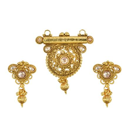 13535 Antique Classic Mangalsutra with gold plating