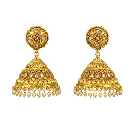 13536 Antique Jhumki with gold plating