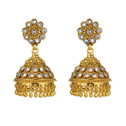 13537 Antique Jhumki with gold plating