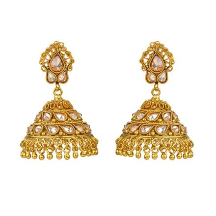 13540 Antique Jhumki with gold plating