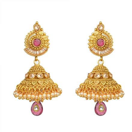 13541 Antique Jhumki with gold plating