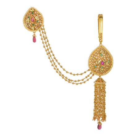 13543 Antique Double Jhuda with gold plating