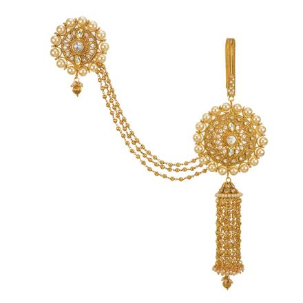 13544 Antique Double Jhuda with gold plating