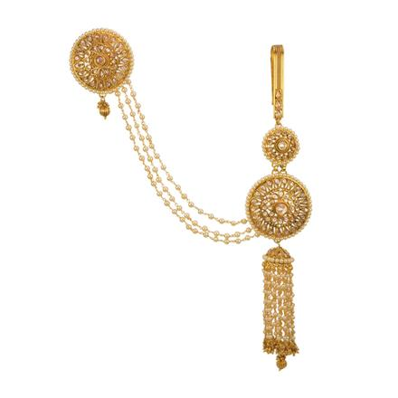 13546 Antique Double Jhuda with gold plating
