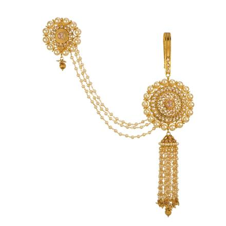 13547 Antique Double Jhuda with gold plating