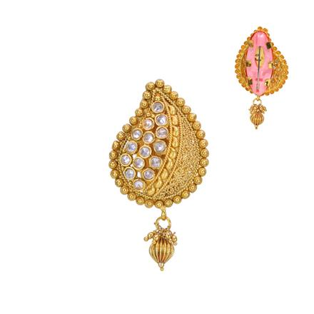 13549 Antique Classic Brooch with gold plating