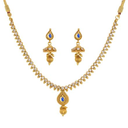 13571 Antique Delicate Necklace with gold plating
