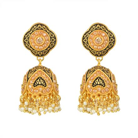 13573 Antique Jhumki with gold plating