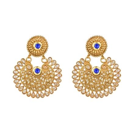 13574 Antique Chand Earring with gold plating