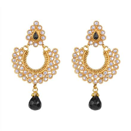 13575 Antique Chand Earring with gold plating