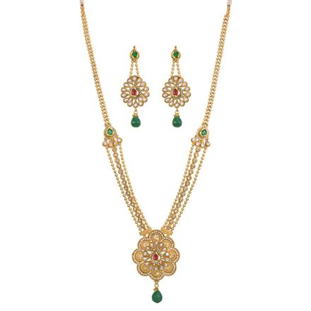 13579 Antique Long Necklace with gold plating