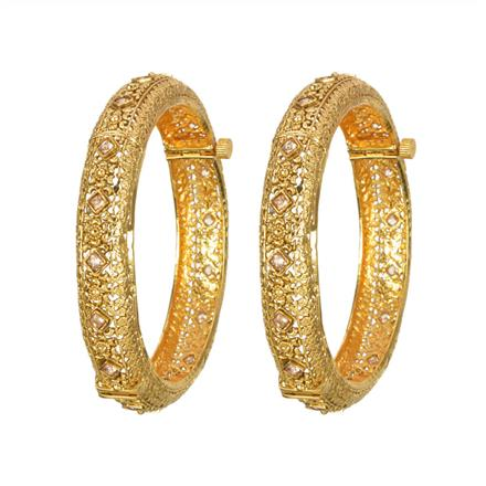 13580 Antique Openable Bangles with gold plating