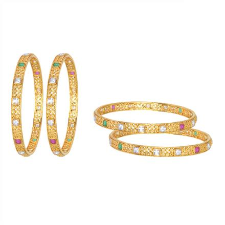 13581 Antique Classic Bangles with gold plating
