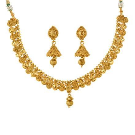 13583 Antique Plain Gold Necklace
