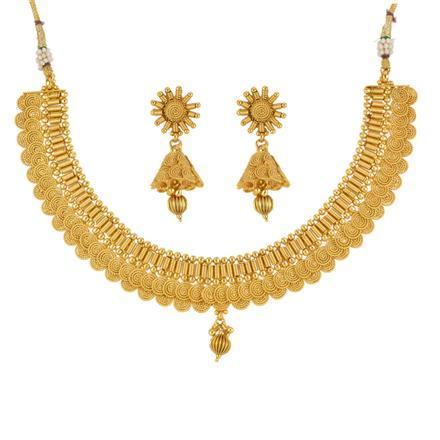 13585 Antique Plain Gold Necklace