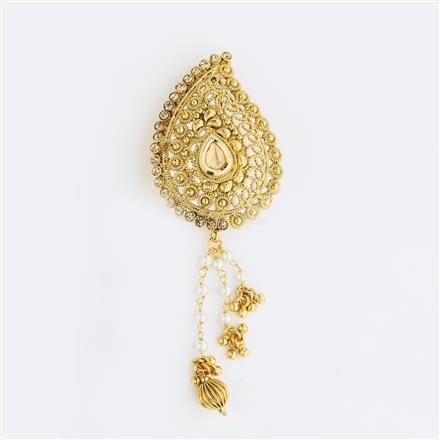 13590 Antique Classic Hair Brooch with gold plating