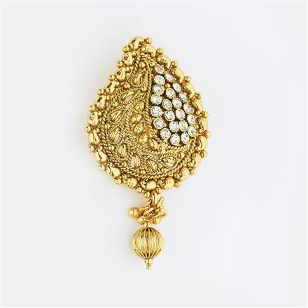 13593 Antique Classic Hair Brooch with gold plating