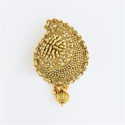 13599 Antique Classic Hair Brooch with gold plating