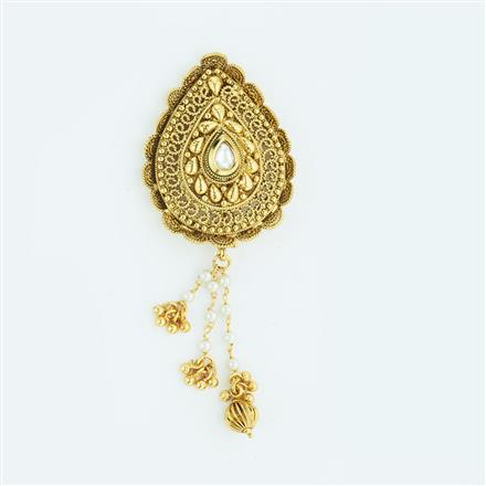 13604 Antique Classic Hair Brooch with gold plating