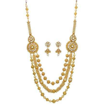 13608 Antique Mala Necklace with gold plating