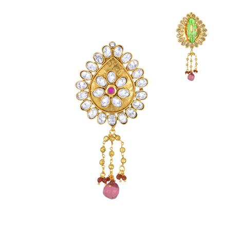 13611 Antique Classic Brooch with gold plating