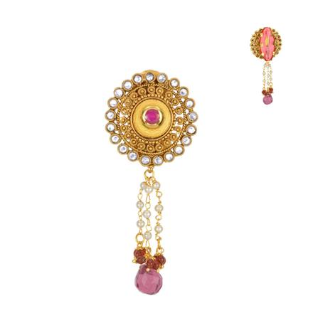 13615 Antique Classic Brooch with gold plating