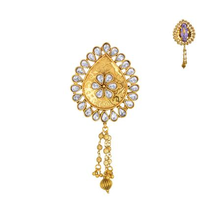 13616 Antique Classic Brooch with gold plating