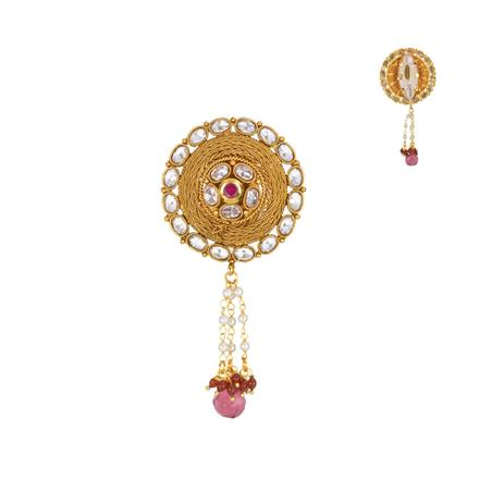 13618 Antique Classic Brooch with gold plating