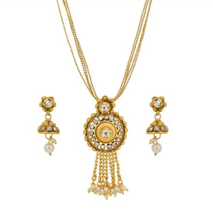13619 Antique Delicate Pendant Set with gold plating