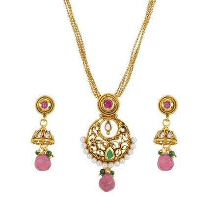 13622 Antique Delicate Pendant Set with gold plating