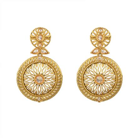 13627 Antique Classic Earring with gold plating
