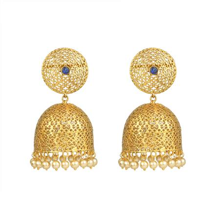 13629 Antique Jhumki with gold plating