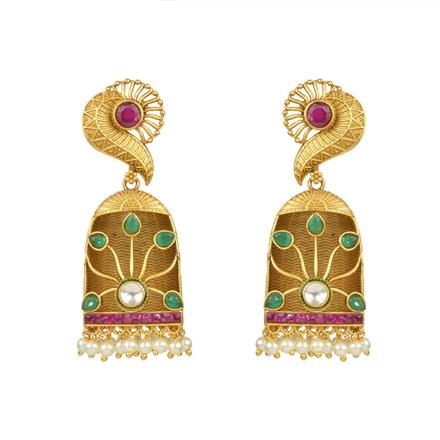 13631 Antique Classic Earring with gold plating