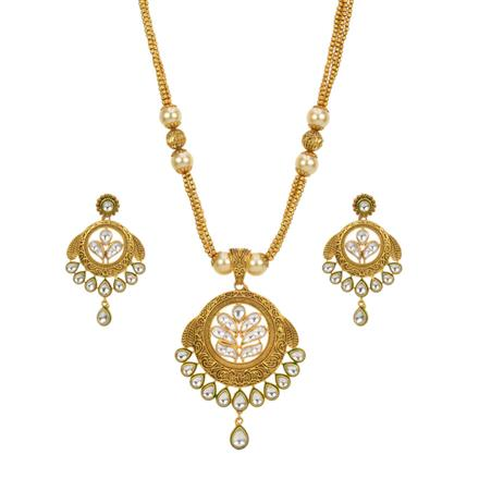 13633 Antique Classic Pendant Set with gold plating